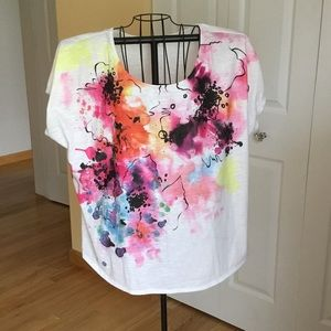 Colorful lightweight summer top